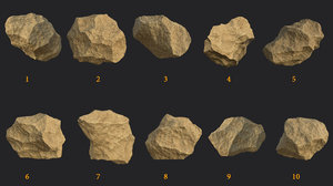 10 rocks 4k 3D