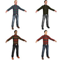 3D pack casual man world