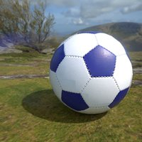 soccer ball scratched 3D model
