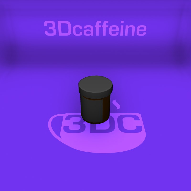 3D model pill bottle