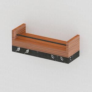 3D wood steel spice rack
