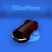 speedster spacecraft space 3D model