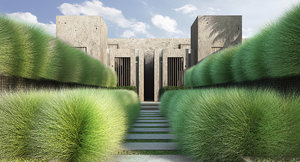 3D 2 grass model