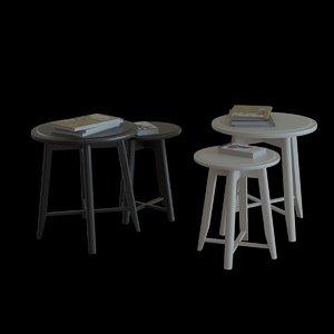 3D ikea kragsta nesting table