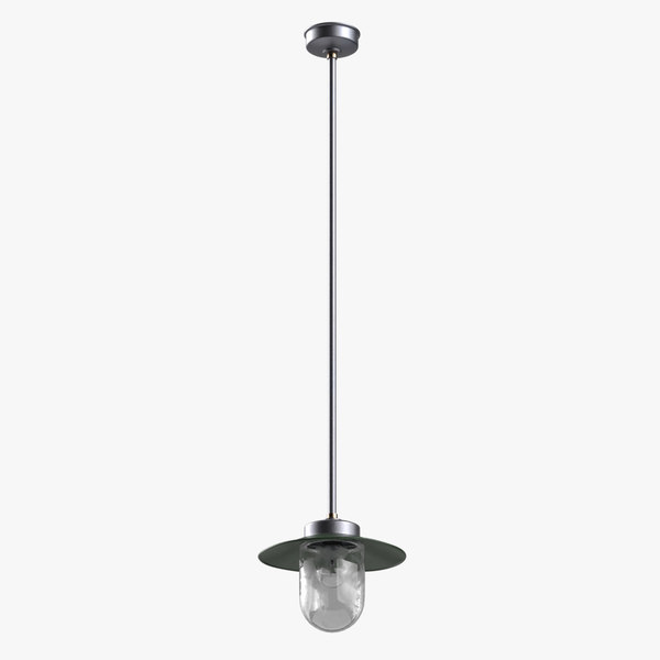 3D model french industrial lamp