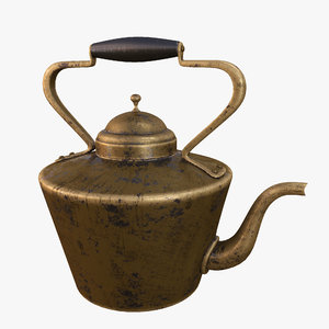 portuguese antique kettle 3D model