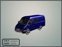 3D model combi van gaz