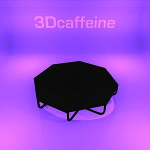 designer table modern coffee 3D model