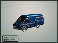 3D mail van model