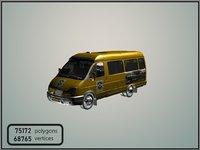 russian taxi 3D model