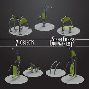street fitness equipment 11 3D model