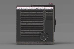 vintage camera storage box model