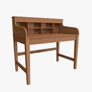 study table 3D model