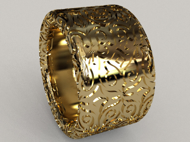 3D pattern ring