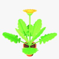 gerbera flower pot 3D model