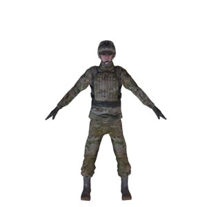 3D modern british soldier model