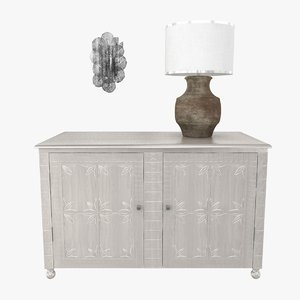 3D sconce table lamp cabinet