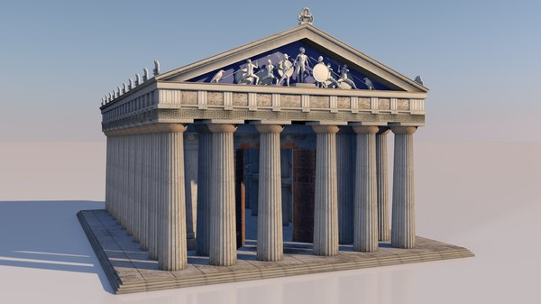 doric greek temple 3D