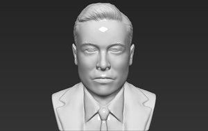 elon musk bust ready 3D model