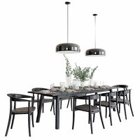 B&B Italia Bull + Belle Dining Set