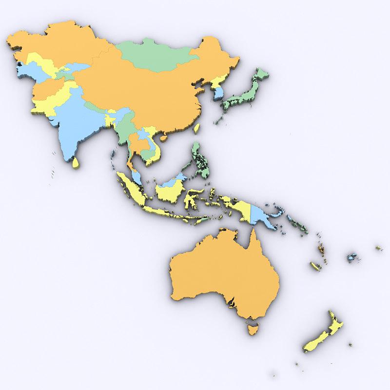 asia oceania 3D model