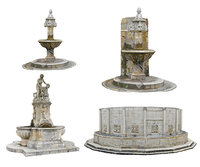 3D fountain pack 3 model