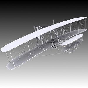 3D 1903 wright flyer model