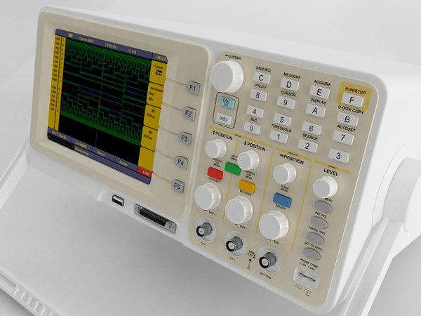 3D digital oscilloscope model