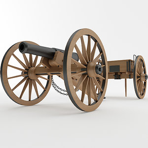 napoleon 1841 6 pounder 3D model
