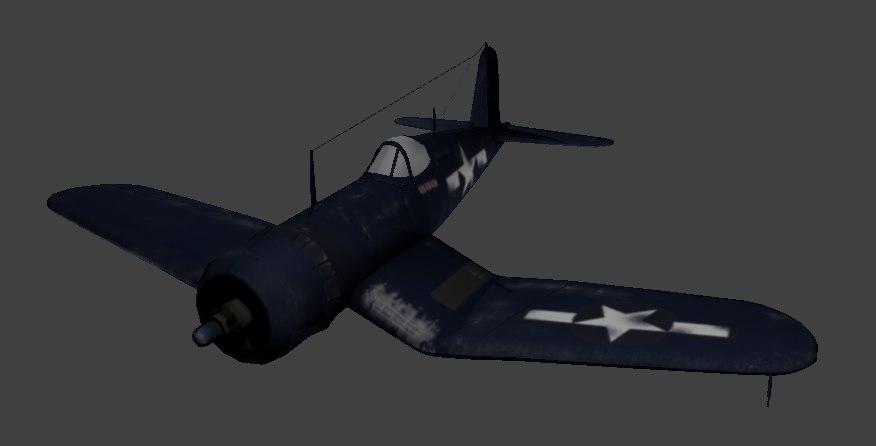 corsair f4u 3D model