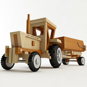 3D toy tractor trailer