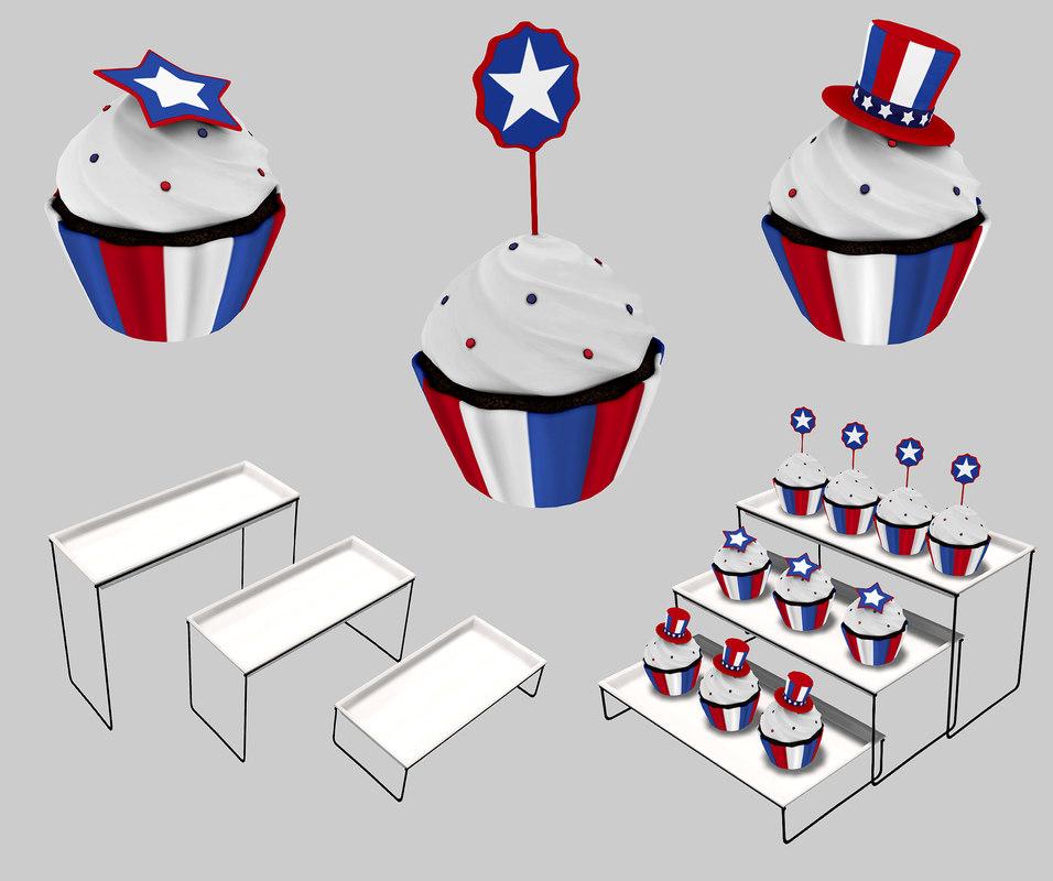 cupcake set second 3D model