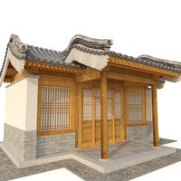 3D Ancient Chinese Architecture Distribution room 05 model
