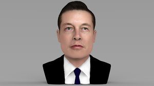 elon musk ready color 3D