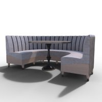banquette sofa 3D model