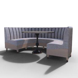 banquette sofa 3D model
