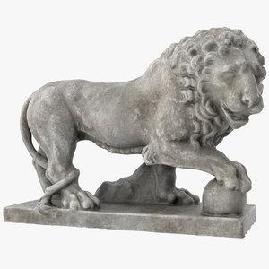 3D model chateau compiegne lion