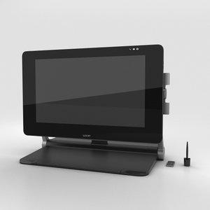 3D wacom cintiq 27qhd model
