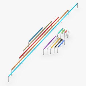 3D model jumper wires breadboard