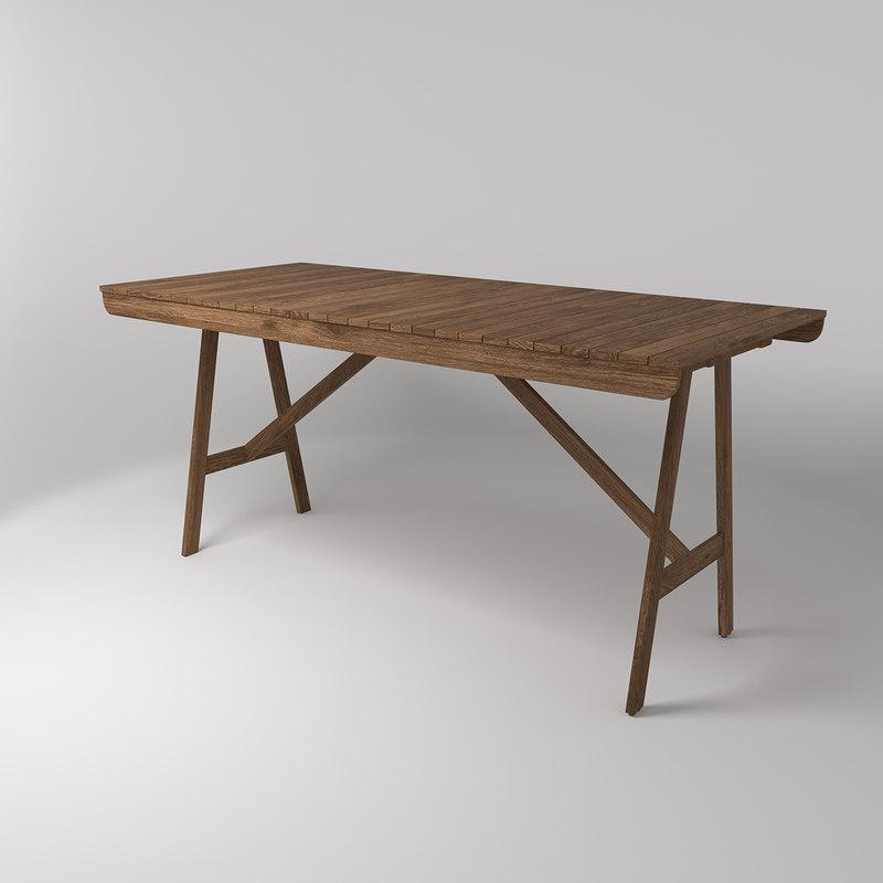 3d Ikea Falholmen Outdoor Table Turbosquid 1298576