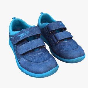 kids sport shoes 3D model
