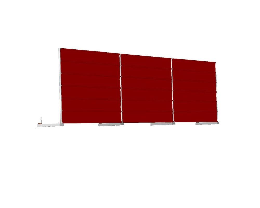 construction fence 3D model
