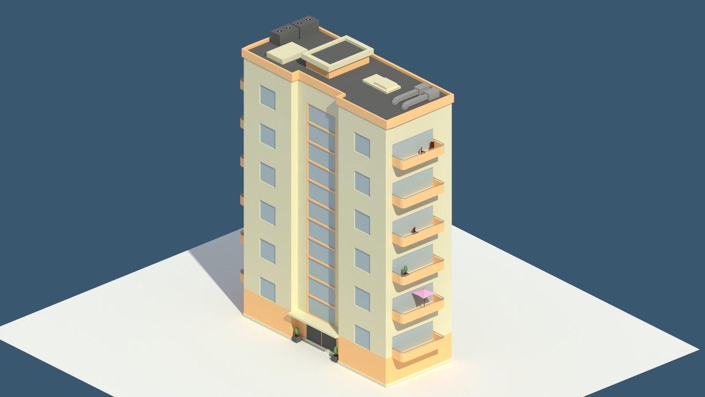 3D balconies model