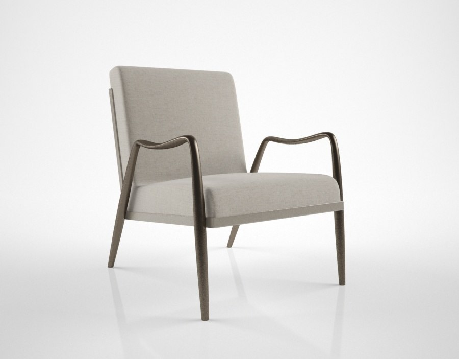 3D holly hunt armora lounge chair