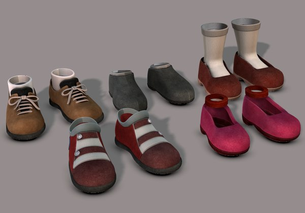 3D cartoon shoe model