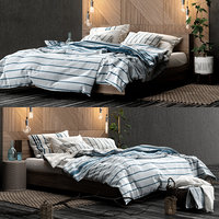 3D h m bedroom set model