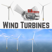 Wind Turbines and Wind Turbine Inside Collection