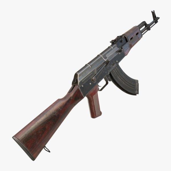 3D akm ak-47 model