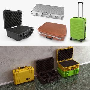 3D suitcases case model
