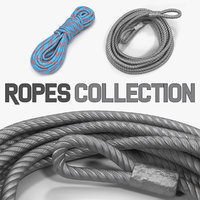 3D model ropes tow strap